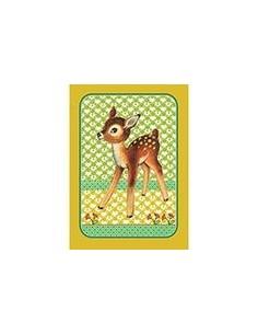 Postcard Bambi Vintage Green