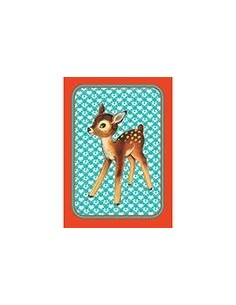 Postkaart Bambi Vintage Blue-orange