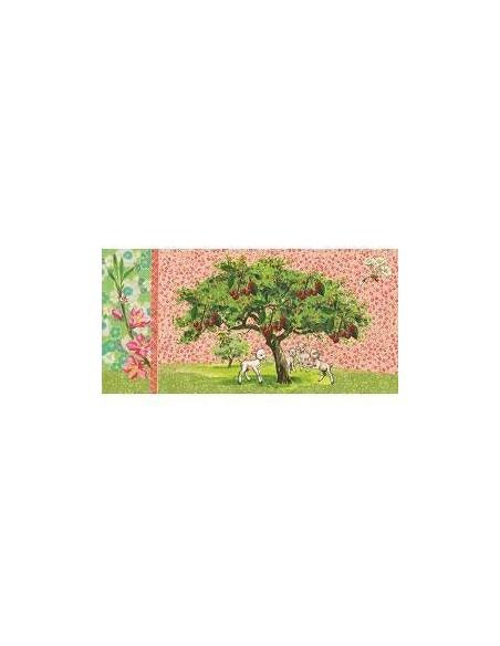 Postkaart Lambs Under a Tree