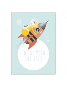 Postkaart To The Moon And Back - Olli&Jeujeu