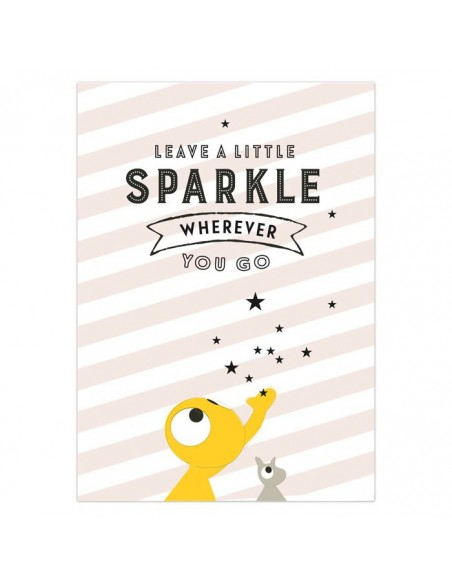Postkaart Leave a Little Sparkle - Olli&Jeujeu