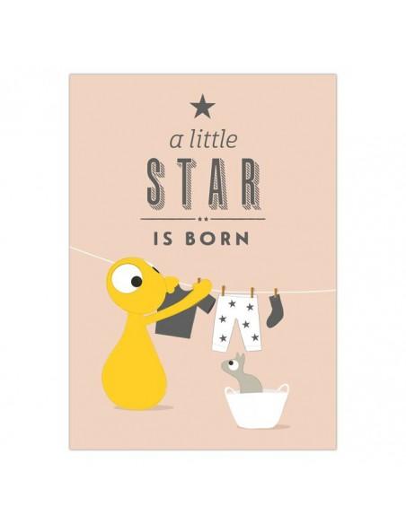 Postkaart A Little Star Is Born - Olli&Jeujeu