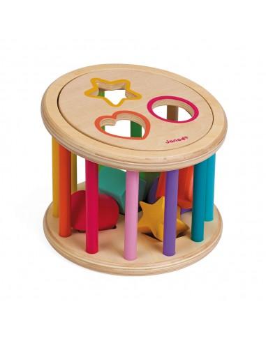 I Wood Shape Sorter Drum - Janod