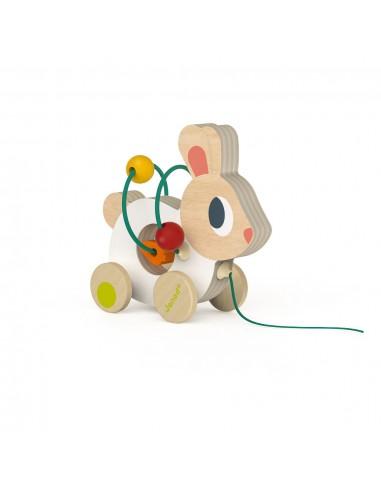 Trekfiguur Mini Looping Rabbit - Janod
