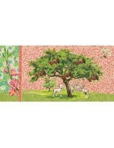Postcard Lambs Under a Tree