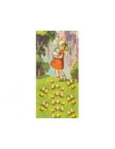 Postkaart Lovely Girl with Lamb