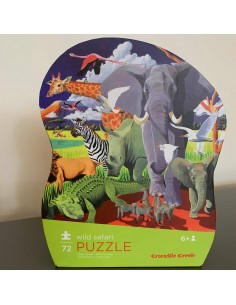 Puzzel Wild Safari 72pcs - Crocodile Creek