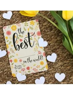 Wenskaart Flowers Confetti The Best In The World - Bloom