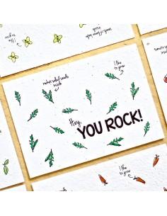 Wenskaart Rocket Salad You Rock - Bloom