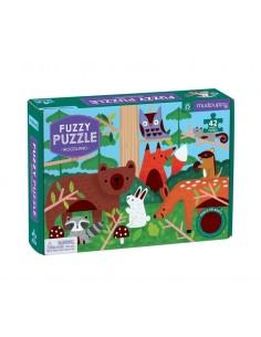 Fuzzy Puzzel Woodland - Mudpuppy