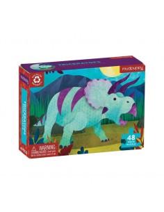 Mini Puzzel Triceratops 48pcs - Mudpuppy